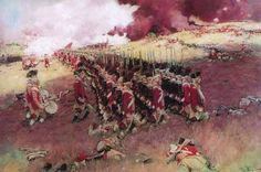 British grenadiers attack the redoubt on Breed's Hill at the Battle of Bunker Hill 17th June 1775