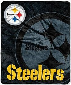 Pittsburgh Steelers 50x60 Roll-Out Style Royal Plush Raschel Throw Blanket
