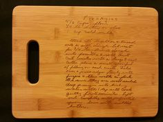 Custom engraved cutting board for Ashlee from 3DCarving on Etsy