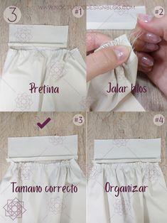 Costura paso a paso: Cómo fruncir tela fácilmente. Girl Dress Patterns, Coat Patterns, Blouse Patterns, Clothing Patterns, Skirt Patterns, Sewing Blouses, Dress Tutorials, Design Blog, Wedding Tattoos