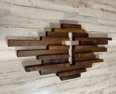 Cross Wall Art, Cross Wall Decor, Wooden Wall Decor, Rustic Wall Decor, Rustic Walls, Wooden Walls, Wooden Diy, Wall Art Decor, Farmhouse Decor