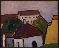 """""""Village de Murnau"""" d'Alexej von Jawlensky (1864-1941).Paris, Centre Pompidou - Musée national d'art moderne - Centre de création industrielle - Photo (C) Centre Pompidou, MNAM-CCI, Dist. RMN-Grand Palais / Droits réservés"""