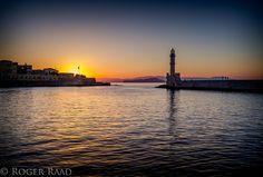 Chania lighthouse by Roger Raad, via 500px