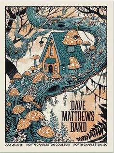 Dave Matthews Band Poster - North Charleston Coliseum - North Charleston, SC - July 26, 2016