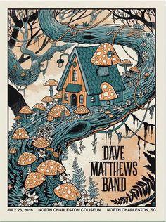 Dave Matthews Band Poster - North Charleston Coliseum - North Charleston, SC - July 26, 2016