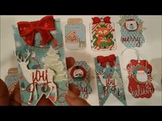 YouTube Christmas Card Crafts, Christmas Tag, Crystal Light Containers, Throwback Thursday, Craft Tutorials, Embellishments, Scrapbook, Tags, Crystals