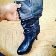 Boots Black dress boots , 4 inch heel Wet Seal Shoes Ankle Boots & Booties