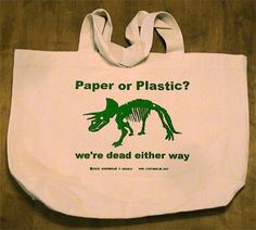 Manufacturing of plastic bags is harmful to the environment because nonrenewable resources are used (petroleum and natural gas). The manufacturing process itself uses toxic chemicals, pollutes the atmosphere and consumes energy.