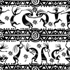 Buy Seamless Texture with Dancing Figures by on GraphicRiver. Seamless texture with dancing figures. Arte Tribal, Tribal Art, Native American Symbols, Native American Design, Celtic Tatoo, Afrique Art, Dancing Figures, Art Premier, Seamless Textures