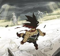 SSJ Goku vs Frieza in Bardock's vision of the future http://anime.about.com/od/Dragon-Ball-Z-Anime/