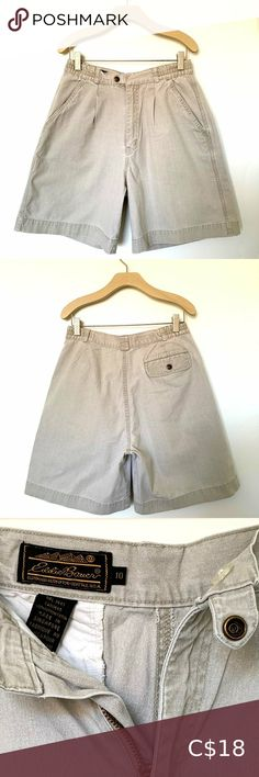 Eddie Bauer Chino Shorts The classic cotton short with slash pockets. Closes with a zipper and two top buttons. Eddie Bauer Shorts Cargos Plus Fashion, Fashion Tips, Fashion Trends, Chino Shorts, Eddie Bauer, Cotton Shorts, Buttons, Zipper, Pockets