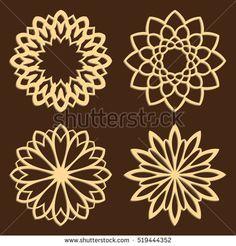 set of laser cut vector patterns islamic die cut patterns cutout
