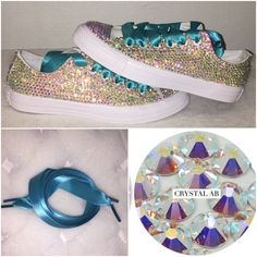 a18c48a67a42 All star converse blinged with AB diamond crystals. All sizes free shipping  worldwide customise your. Crystals By Nicole X Luxury ...