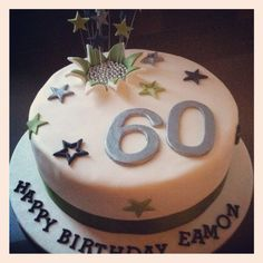 60th Birthday Cake with Shooting Stars