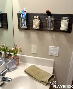 shower organizers | Jar bathroom organizer. | For the Home