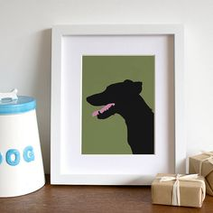 Personalized Pet Silhouette Print - check out notonhighstreet.com (this is only $65)