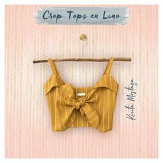 Crop tops en Lino Colección S/S 2020 Spring Tops, Spring Summer, Bikinis, Swimwear, Crop Tops, Fashion, Dry Cleaning, Bucaramanga, Bathing Suits