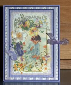Graphic 45 Secret Garden card