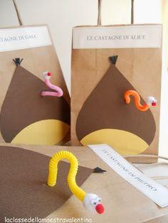 Bosses per a les castanyes Autumn Crafts, Fall Crafts For Kids, Diy For Kids, Fun Crafts, Paper Gifts, Diy Paper, Paper Craft, English Activities, Classroom Crafts