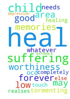 For my only child who is suffering from - For my only child who is suffering from depression and low esteem and ocd. That the good Lord may touch him and heal him completely and forever. That he realses his worthiness and heal any area of his which needs healing, be in memories or whatever else is tormenting him. Thank you Lord.  Posted at: https://prayerrequest.com/t/R9j #pray #prayer #request #prayerrequest