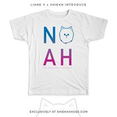 Get the NOAH Stacked tee! Available now at Shiekh!