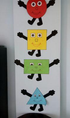 Okul oncesi sekiller Preschool Classroom Decor, Preschool Bulletin, Toddler Classroom, Classroom Walls, Classroom Posters, Classroom Displays, Kindergarten Activities, Preschool Activities, Preschool Shapes