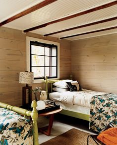 Green and Wood Kid's room