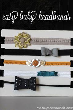 Baby Headbands | Mabey She Made It | #baby #headband