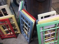 Old Wooden Windows to be made into mirrors using sliders from trailers. Wooden Windows, Sliders, Reuse, Trailers, Mirrors, Repurposed, Recycling, Diy Projects, Furniture