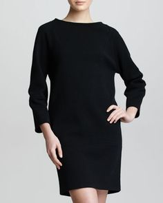 Crepe Jersey Cocoon Dress, Black by Armani Collezioni at Neiman Marcus.