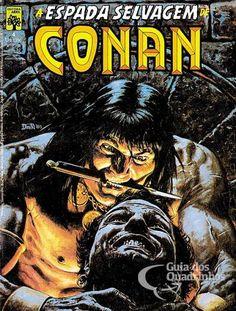 The Savage Sword of Conan (Jun Marvel) for sale online Marvel Comics, Conan Comics, Bd Comics, Marvel Comic Books, Comic Books Art, Comic Art, Conan The Barbarian Quotes, Caricature, Conan O Barbaro