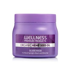 Wellness Premium Hair Mask is infused with organic cold pressed hemp seed oil extract, enriched with pure keratin and essential vitamins and minerals. Leaves your hair deeply nourished. Improves elasticity and shine. Provides long lasting conditioning benefits. Repairs dry, damaged hair and rejuvenates and rebuilds your hair. Sodium chloride free and paraben free. Hemp Shampoo, Organic Hemp Seeds, Bleach Blonde, Hair Serum, Paraben Free, Blonde Color, Damaged Hair, Silver Hair, Seed Oil