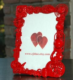 Embellished Frame Shabby Chic Jewelry Picture Photo Art by cjBlue, $25.00