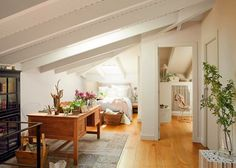 decordemon: Lovely loft in Barcelona Fall Bedroom, Boho Bedroom Decor, Best Interior, Home Interior, Interior Design, Smart Home Design, Modern House Design, Attic Bedrooms, Design Case