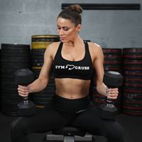 Fitness apparel designed for weight training.