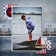 note strip of photos behind the primary photo and corner clustering
