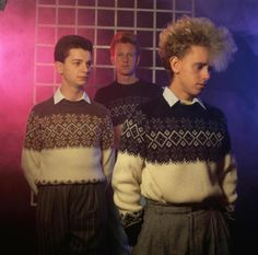 Yes, that IS a young Depeche Mode.