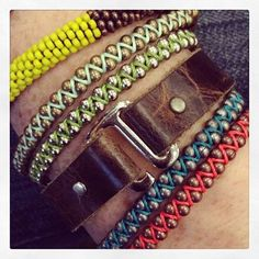 Make these Zig Zag Bracelets!