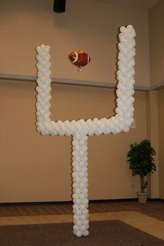 Balloon goal post!!  #football #Balloons