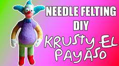 Needle Felting DIY -  Krusty El Payaso (Krusty The Clown)