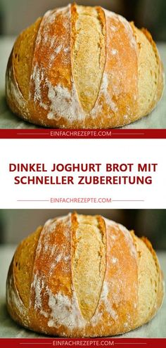 Spelled yogurt bread with quick Dinkel Joghurt Brot mit schneller Zubereitung Spelled yogurt bread with quick preparation - Easy Cheesecake Recipes, Easy Smoothie Recipes, Easy Smoothies, Easy Cookie Recipes, Cooking Chef Gourmet, Yogurt Bread, Desserts Sains, Bon Dessert, Pampered Chef