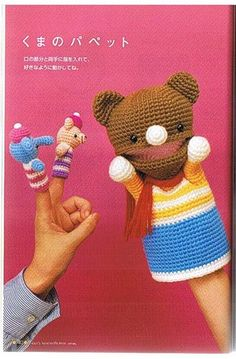 (1 of 6) Podarok — «916(1).jpg» на Яндекс.Фотках. Crochet Bear and Finger Puppets. Diagrams only. Diagrams posted here for your convenience: http://pinterest.com/CoronaQueen/crochet-amigurumi-corona/. ☀CQ #crochet #crafts #DIY. Thanks so much for sharing! ¯\_(ツ)_/¯