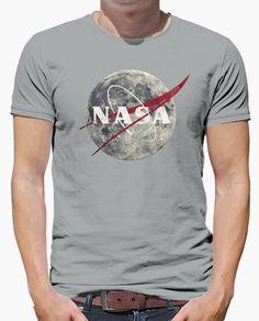 Camiseta Nasa Moon Vintage Emblem