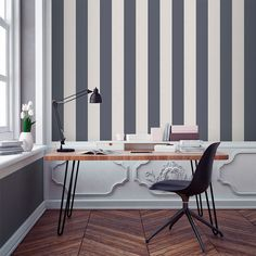 Home Staging, Home Office, Sweet Home, Wallpaper, Interior, Table, Tan Solo, Inspiration, Furniture
