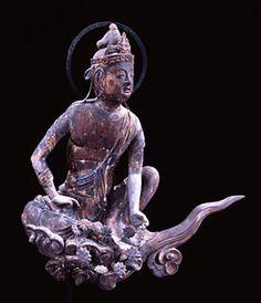 Japanese National Treasure, Statue of Unchu Kuyo Bosatsu 雲中供養菩薩像 南3号像(平等院)
