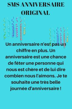 Birth Day QUOTATION – Image : Quotes about Birthday – Description sms anniversaire humour Sharing is Caring – Hey can you Share this Quote ! Birthday Message For Him, Funny Happy Birthday Messages, Birthday Ideas For Her, Birthday Text, Birthday Quotes, Messages For Him, Funny Messages, Dad Quotes, Best Quotes