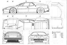 Tutorials3d blueprints bmw m1 race car liveries pinterest bmw m1 blueprint malvernweather Image collections