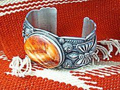Bracelet DARREL CADMAN Sterling Silver Spiny Oyster USA