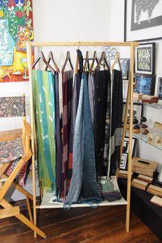 Amber Kane scarves at the Village Artisans Gallery, Booth display ideas . amberkane.com