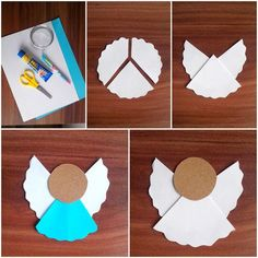 How to make simple Christmas tree decorations from paper - Weihnachten Christian Christmas Crafts, Christmas Arts And Crafts, Holiday Crafts For Kids, Christmas Ornament Crafts, Christmas Activities, Xmas Crafts, Craft Stick Crafts, Kids Christmas, Paper Crafts